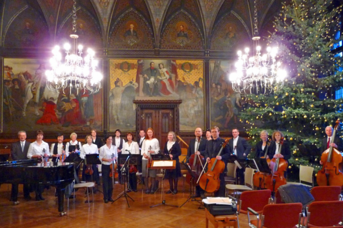 Orchester im Rathausfestsaal