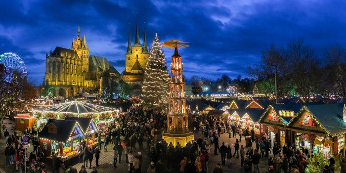 Weihnachtsmarkt Erfurt.Weihnachtliches Erfurt Erfurter Weihnachtsmarkt